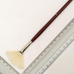 Кисть щетина Rosa 6007 Kolos веерная №6 длин. ручка