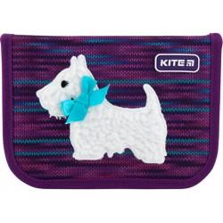 Пенал без наполнения Kite Education Cute puppy 1 отделение 2 отворота Фиолетовый K20-622-11