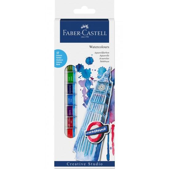Краски акварельные Faber Castell 12 цветов в тюбиках