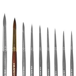 Кисточка «Живопись» 3121 Колонок круглая № 08 короткая ручка рыжий ворс