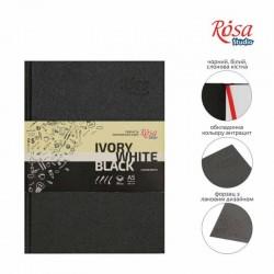 локнот A5 (14,8х21см) слоновая кость черная и белая бумага 80г/м 96л ROSA Studio