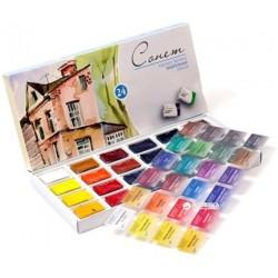 Набор акварельных красок Невская палитра Сонет 24 цвета