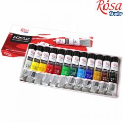 Набор акриловых красок 12x20мл ROSA Studio
