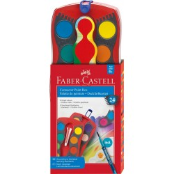 Акварель Faber Castell 24 цв сухие CONNECTOR (125029)