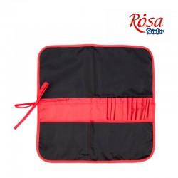 Пенал для кистей черный+красный ROSA Studio