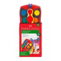 Акварельные краски Faber Castell, 12цв. акварель сухие CONNECTOR (125023)