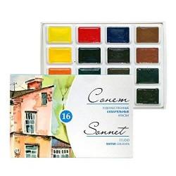 Набор акварельных красок Невская палитра Сонет 16 цветов