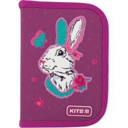 Пенал без наполнения Kite Education Bunny 1 отделение 2 отворота Бордовый K20-622-5
