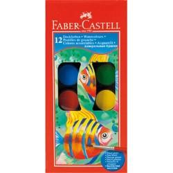 Акварель Faber Castell 12 цв сухие с кисточкой D24 (125011)