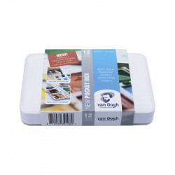 Набор акварельных красок VAN GOGH Pocket box 12 кювет+кисточка Royal Talens