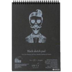 Альбом для рисунка Smiltainis Authentic Black A4 (21х29.7см) 160 г/м2 30 листов