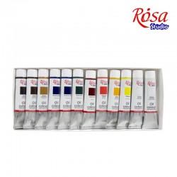 Набор масляных красок 12 цветов 20мл ROSA Studio