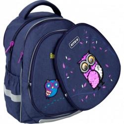 Рюкзак Kite Education Owls для девочек 800 г 38x28x16 см 18 л Темно-синий K20-700M(2p)-2