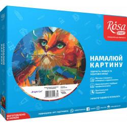 """Набор акриловая живопись по номерам """"Bright Cat"""" 35х45см ROSA START"""