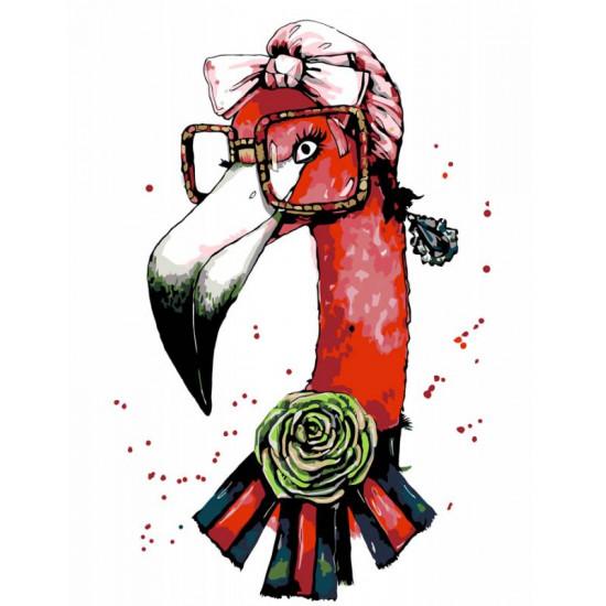 """Набор акриловая живопись по номерам """"Fashion Flamingo"""" 35х45см ROSA START"""