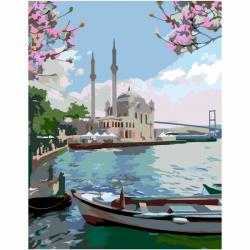 """Набор-стандарт акриловая живопись по номерам """"Уикенд в Стамбуле"""" 35х45см ROSA START"""