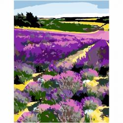 """Набор-стандарт акриловая живопись по номерам """"Цветущее лавандовое поле"""" 35х45см ROSA START"""