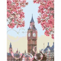 """Набор-стандарт акриловая живопись по номерам """"Цветущий Биг-Бен, Лондон"""" 35х45см ROSA START"""