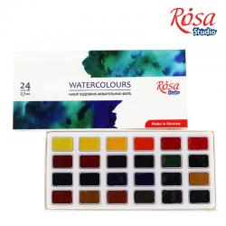 Набор акварельных красок 24цв кювета картон ROSA Studio